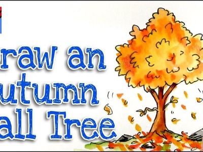 How to draw an Autumn or Fall Tree Real Easy