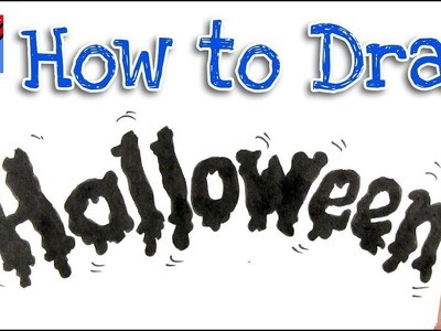 How to draw Halloween Lettering Real Easy