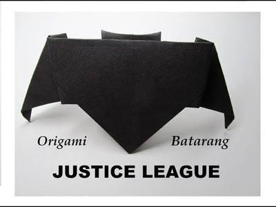 How to Fold an Origami Batarang from Justice League Movie 2017