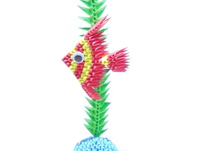 How To Make a 3D Origami Angel Fish