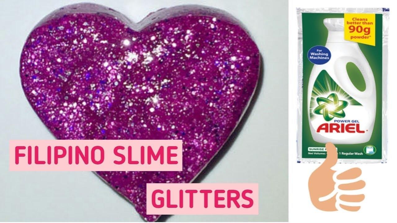 How To Make Glitter Slime (Philippines) || Lianne Francine