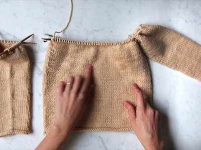 Joining Sleeves to Body | Purl Soho
