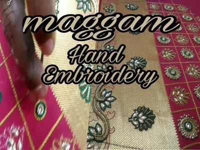 Maggam Work | Hand embroidery | Aari embroidery | blouse design