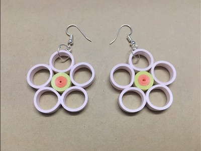 Make Quilling earring easily at home