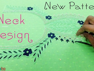 Neck Design New Pattern || Thread and Beads Stitch || Hand Embroidery || Aari Work || Zari Work