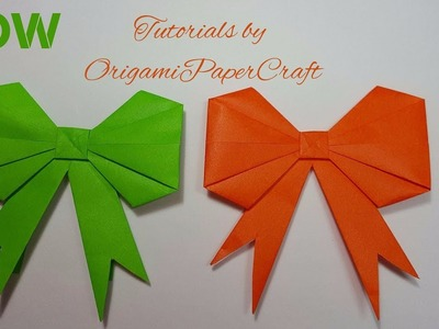 Origami - How to fold a paper Bow/Ribbon ♥︎ Paper Kawaii - YouTube | 300x400