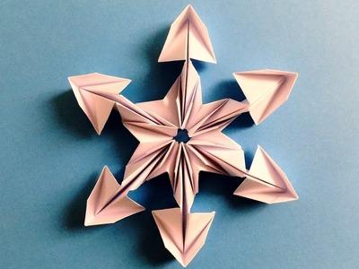 Origami snowflake | How to make Beautiful 3D SnowFlakes Origami