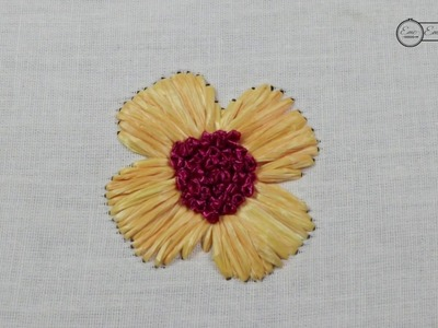 Raffia Ribbon for Hand Embroidery Tutorial