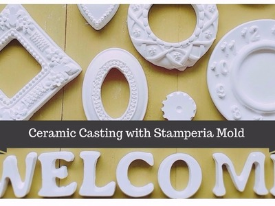 Studio Decoupage Tutorial Using Stamperia Mold With Plaster of Paris