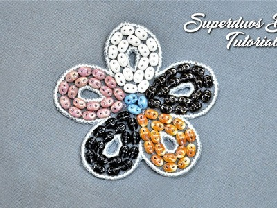 Superduo Beads Tutorial for Hand Embroidery and Jewelry Making | Beginners Guide