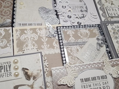 10 cards 1 kit |Crafty Ola's Special Edition Wedding Card Kit ''Promise'' Set #1