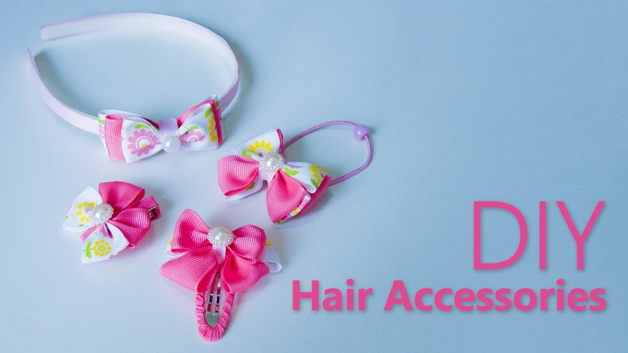 4 DIY Hair Accessories   Hair Tutorial with 4 DIY Quick Hairstyles for School   Hair styles