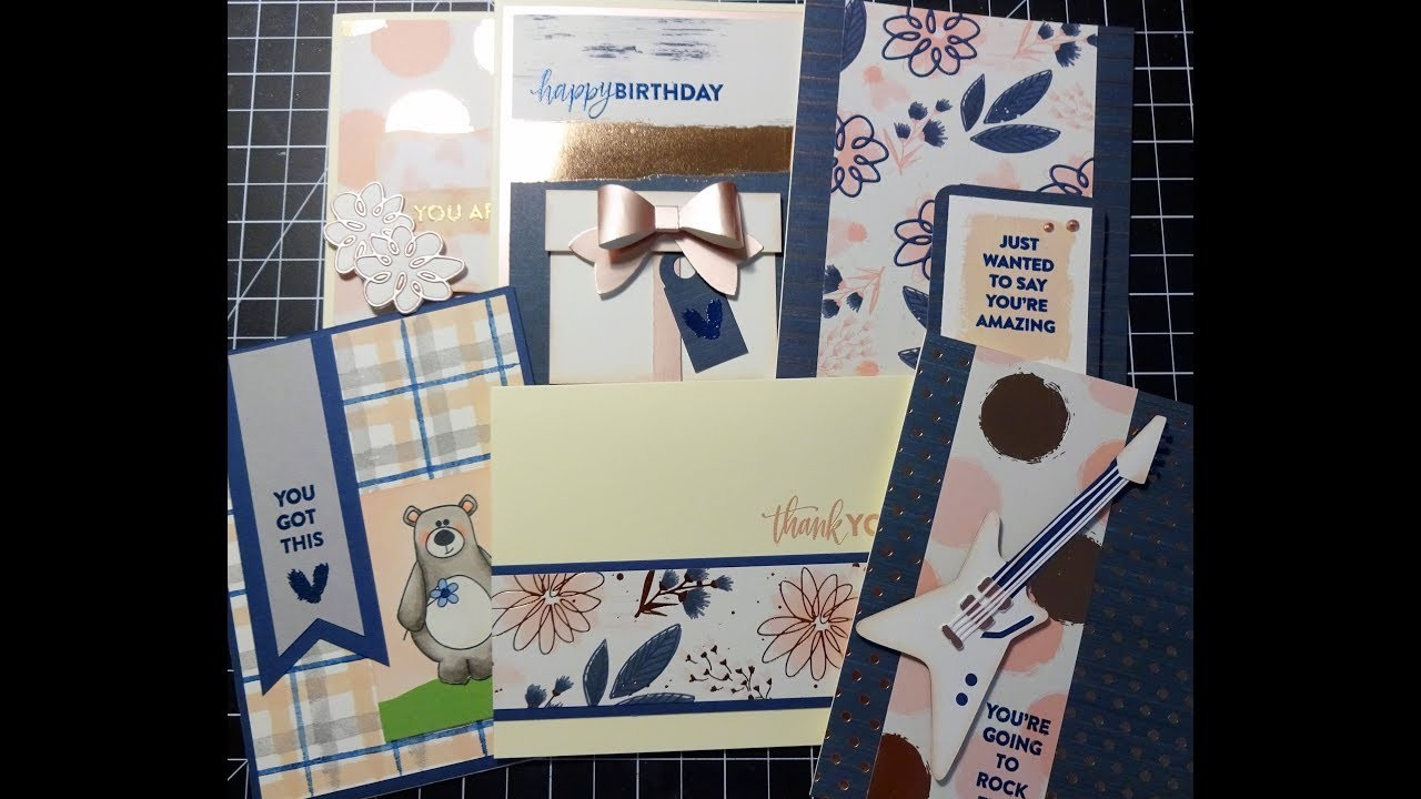 6 Cards 1 Kit - Simon Says Stamp October 2017