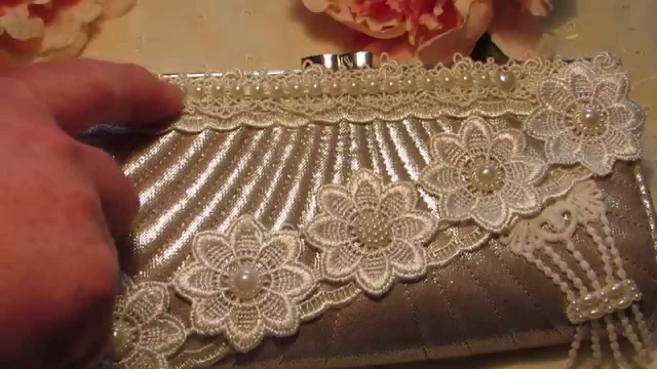 Altered Evening Clutch Purse . .And I've Got Happy Mail . .For Valentine's Day