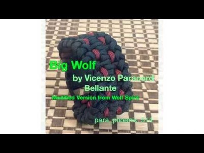Big Wolf paracord bracelet modified version by Vincenzo Paracord Bellante from original Wolf Spirit