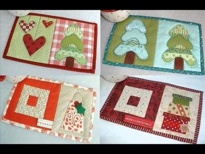 Christmas Quilt Pattern - Christmas Mug Rugs 10 Seasonal Patterns