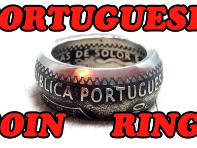 Coin rings making process - Portugal 200 escudos 1995 | How I make my awesome coin rings!