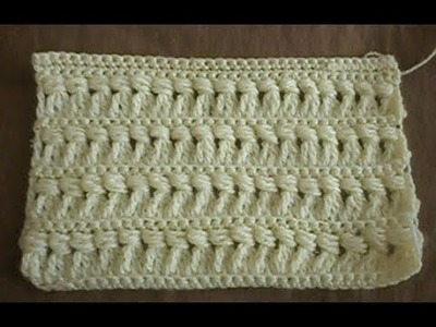 Crochet Triangle and Puff Stitch