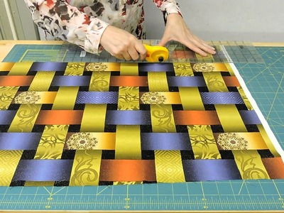 Cutting Directional Fabrics by Barb Sackel for QuiltWoman.com