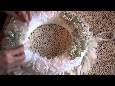 Designer Project - Shabby Wreath & Table Center Piece - Tricia