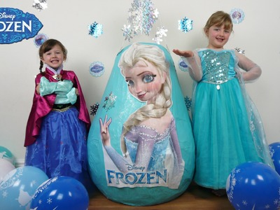 DISNEY FROZEN Videos SUPER GIANT SURPRISE EGG Worlds Biggest Frozen Egg ELSA ANNA Dolls LET IT GO