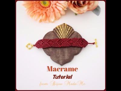 DIY macrame jewelry tutorial. How to make sweet red macrame bracelet.