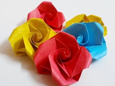 Flower simple and easy paper flower tutorial 2 simple and easy easy origami rose flower make small paper rose diy mightylinksfo