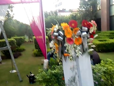 Flower decoration for wedding gate n Stage in Lemon Tree Hotel 09891478183 BY DG Event .in