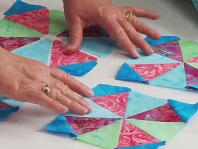 From the Sizzix Quilting Workshop: How to Create a Kaleidoscope Design
