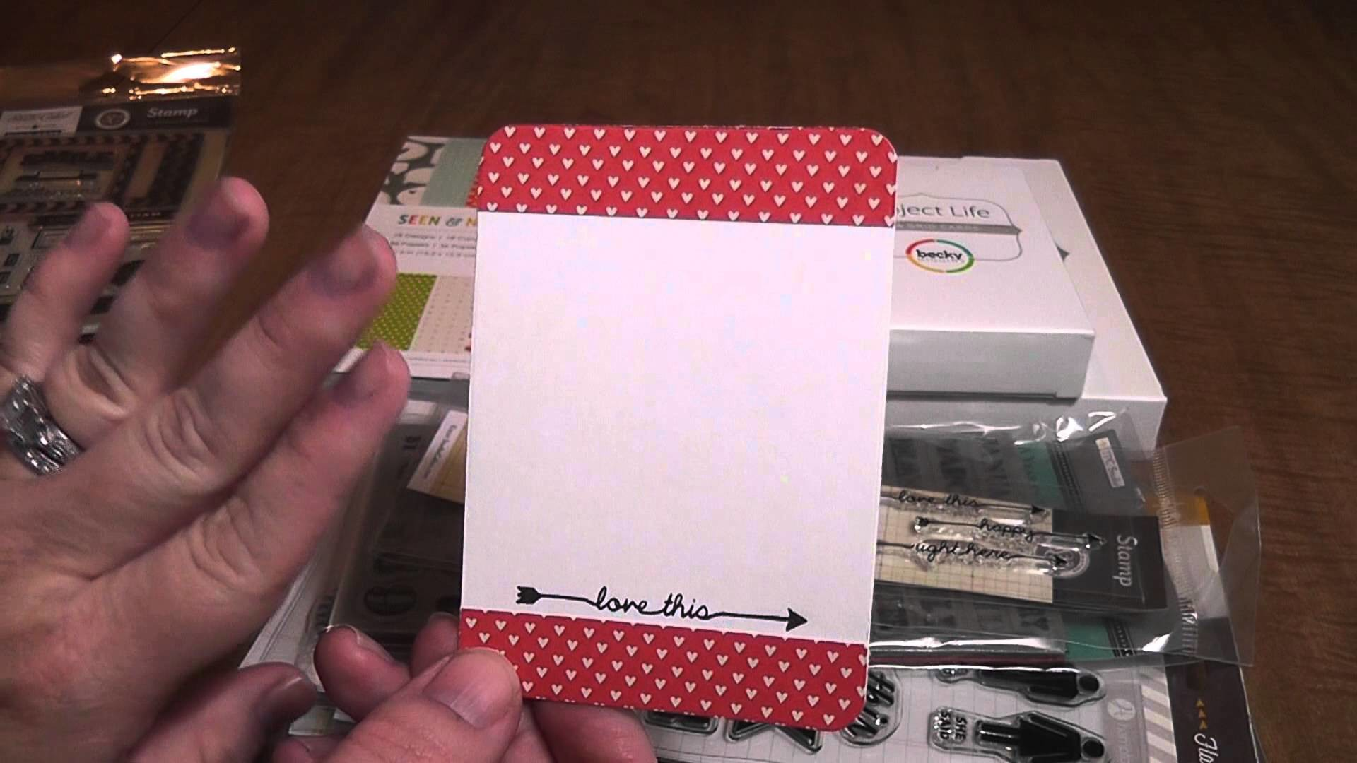 Handmade Project Life Cards for a Swap!