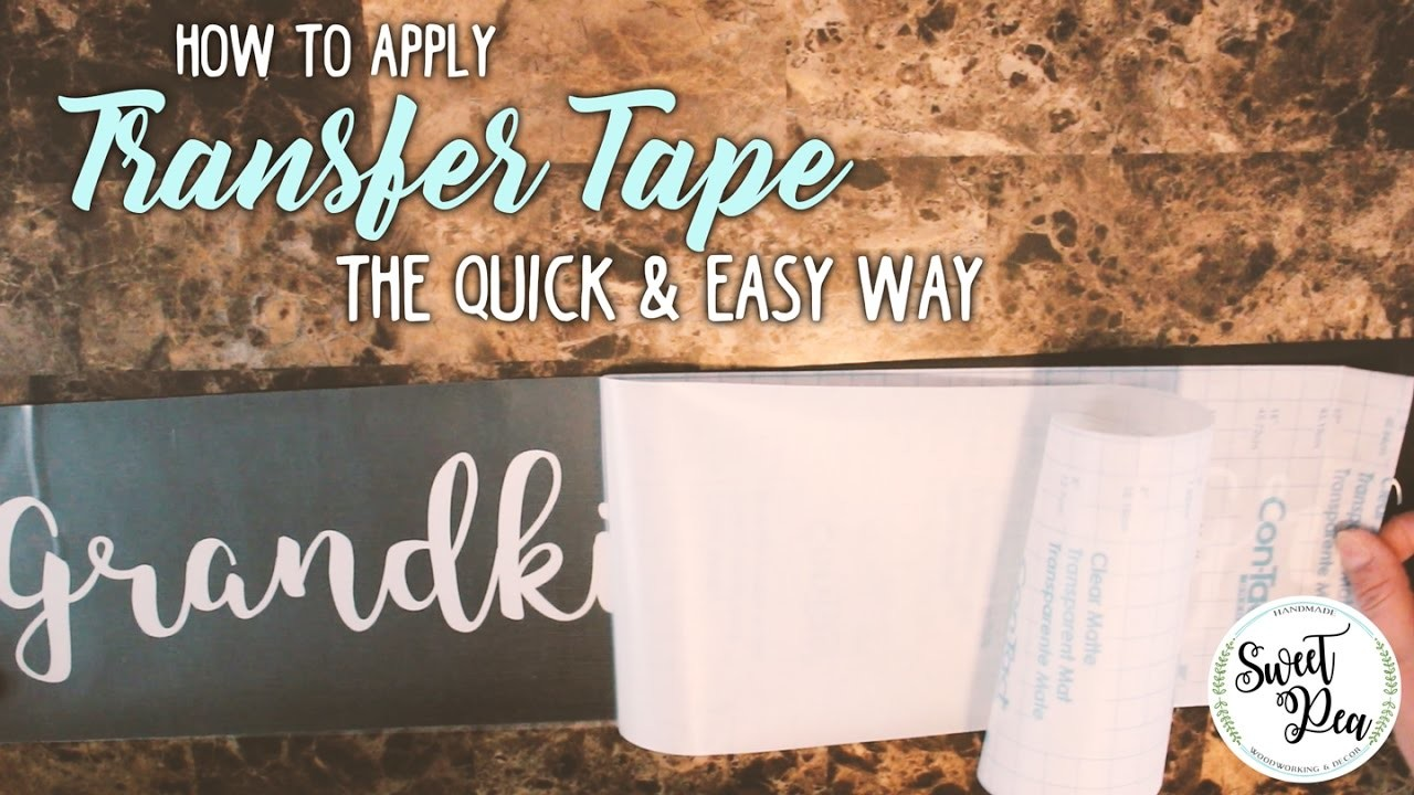 How to Apply Transfer Tape the Quick and Easy Way