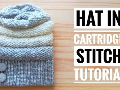 HOW TO MAKE A HAT IN CARTRIDGE STITCH - TUTORIAL STEP BY STEP FOR BEGINNER [LOOM KNITTING DIY]