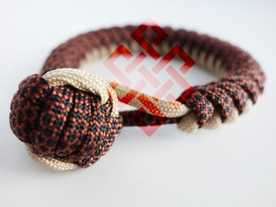 How to Make a Monkey's Fist Snake Knot Bracelet Tutorial