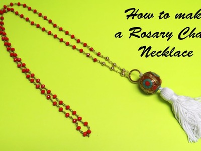 How to make a Rosary Chain Necklace