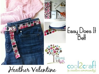 How to Make an Easy Stitched Belt by Heather Valentine