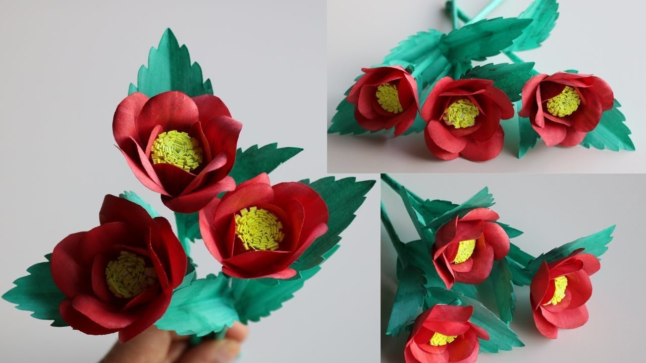 How To Make Beautiful Flowers With Craft Paper Flowers Healthy