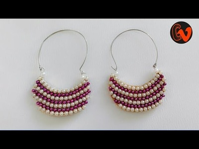 How To Make Designer Earrings. How To Make Handmade Earrings. Jewellery Making at home.DIY