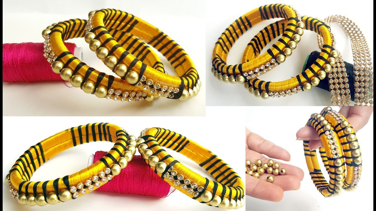 How to Make Designer Silk Thread Fancy Bangles    Making of Silk Thread Bangles    diy