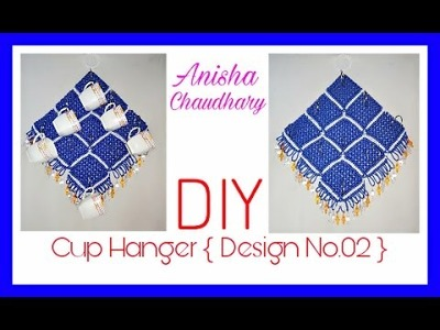 How to Make Macrame Cup Hanger {Design No.02},Full HD Video Step by Step, Easy Making Method.