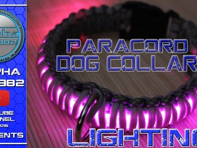 How to make Paracord Dog Collar Lighting Glow