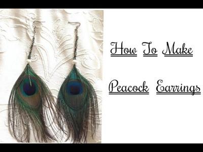 How to make peacock earrings