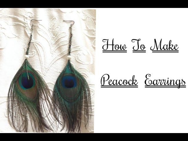 How to make peacock earrings