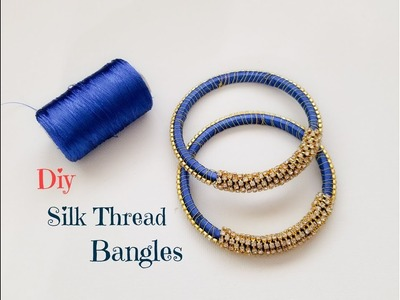 How to make silk thread designer bangles||Making Silk thread fancy bangles
