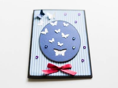 How to make : Simple Greeting Card with Butterflies  | Kartka z Motylami - Mishellka #258 DIY