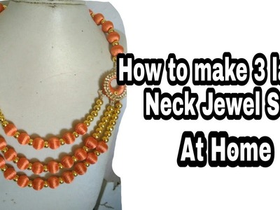 How to make Three layer silk thread Jewel set at Home