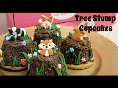 How to Make Tree Stump Woodland Cupcakes
