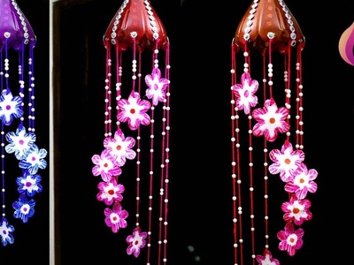 How to recycle plastic bottles at home - DIY - Wind chime out of plastic bottle