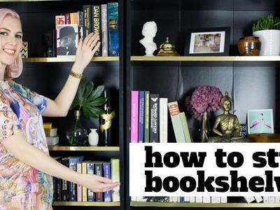 How To Style Bookshelves | SarahAkwisombe.com