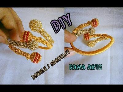 Khada bangle. bracelet - Making with silk thread | jewellery tutorials