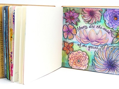 LIVE! Mixed-Media Art Journaling Page with Barb Owen - HowToGetCreative.com